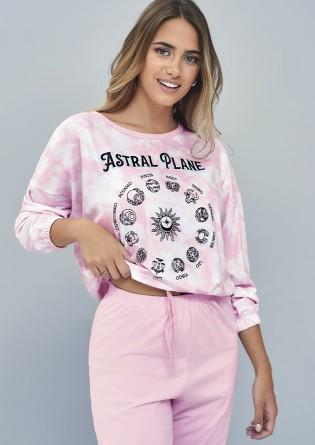Pijama remera manga larga...