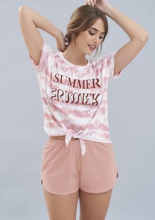 Pijama en jersey remera y...