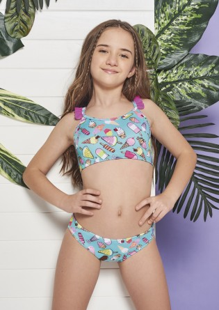 Bikini de nena en tricot...