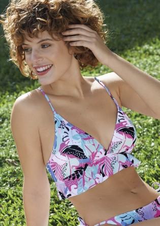 Bikini en tricot estampado...